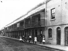 Terraces on Irving St, Chippendale in inner Sydney in 1908.