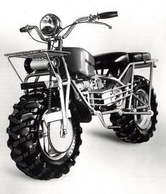 Cool Classic Rokon Ride with Two Wheel Drive Motorcycle Machine