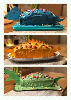 - craft ideas for children - cake wedding cake kindergeburtstag ohne backen rezepte schneller cake cake Food Cakes, Dino Cake, Dinosaur Birthday Party, Birthday Treats, Birthday Stuff, Oreo Pops, Easy Cake Recipes, Savoury Cake, Cake Decorating