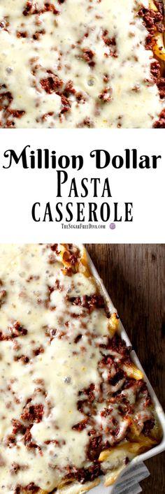 Million Dollar Pasta Casserole #casserole #meals #meal #dinner #pasta #easy #easyrecipe #yummy