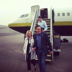 ann romney campaign trail | The Romneys -- Mitt, Ann and Josh -- arrive in Minnesota after Romney ...