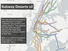 Subway deserts in NYC