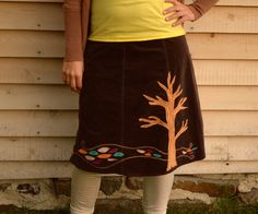 Upcycled Pixie Skirt - Recycled Tree of Life and Hippie Clothing  - women bohemian skirt - fiber art - large. $74.00, via Etsy.
