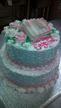 Baptismal Cake By: Angie Burger