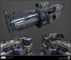 ArtStation - DOOM: Heavy Assault Rifle, Timothee Yeramian