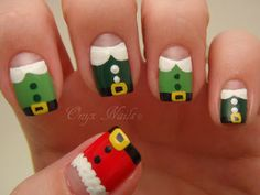 Onyx Nails Elf Christmas Nail Nailart