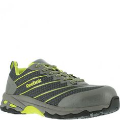 RB4520 Reebok Men s Comp Toe Safety Shoes - Grey Lime www.bootbay.com 4cd9d8e48