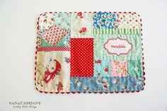 patchwork pocket placemat