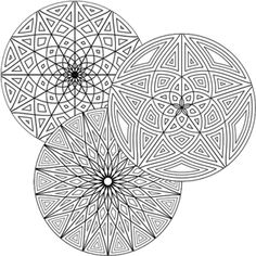 Grown-up Coloring Pages - Free Geometric Coloring Designs - Choose a Category