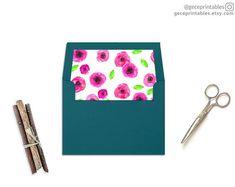 Pink Envelope Liner Template Printable Envelope Liner Pdf