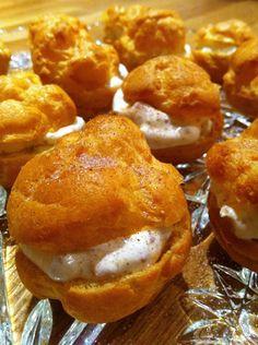 Persian dessert - Profiteroles with Fig Cream #recipe #sweet