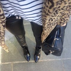 Leopard print and stripes