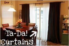 Dual Curtain idea to replace vertical blinds