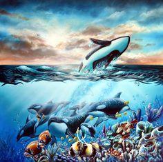 lachri fine art- orcas painting