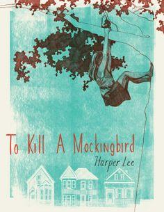 To Kill A Mockingbird art print by Adriana Vawdrey.