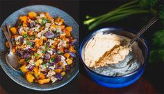Roasted Butternut and Red Onion with Tahini