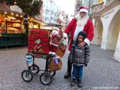 Santa Claus at one of the Christmas markets in Innsbruck.