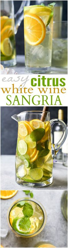 Easy Citrus White Wine Sangria with loads of citrus, white wine and citrus vodka. It's the perfect refreshing cocktail to sip on those hot summer days! #vodkacocktails