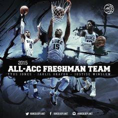 Tyus Jones, Justise Winslow, Duke Basketball, Champs, Website, Image, Blue