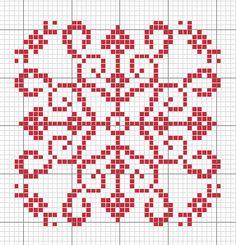 knitting chart snowflake Gallery.ru / Фото #23 - монохром - Labadee