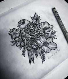Robin drawing. (Laura Weller)