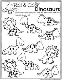 Dinosaur Worksheets for Preschool - Dinosaur Counting Activity. Looking for fun Dinosaur Preschool Theme Activities? You will love this set of Preschool Dinosaur Centers and No-Prep Worksheets. Dinosaur Worksheets, Dinosaur Theme Preschool, Dinosaur Printables, Preschool Themes, Preschool Lessons, Preschool Classroom, Preschool Crafts, Preschool Printables, Daycare Curriculum