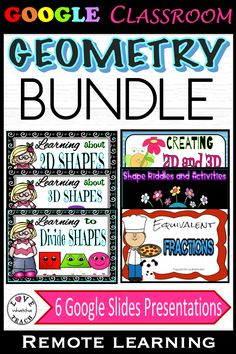 SIX ENGAGING GEOMETRY-THEMED GOOGLE SLIDES PRESENTATIONS are included in this BUNDLE of activities to learn, create and apply new learning to 2D and 3D shapes!    YOU GET 2 GOOGLE SLIDES PRESENTATIONS FREE!! 3d Shapes Activities, Learning Shapes, Math Activities, Gifted Students, 2d And 3d Shapes, Student Gifts, Google Classroom, Teaching Tools, Geometry