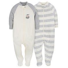 Gerber Baby Infant 2 Pack Organic Zip Front Sleep N Play...