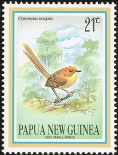 Orange-crowned Fairywren stamps - mainly images - gallery format