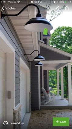 Classic Black RLM Lights Offer A Neutral Outdoor Lighting Solution On This  Traditional Country Home. Love The Colors And The Lights.