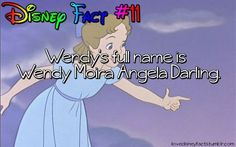 Disney Fact Wendy's full name is Wendy Moira Angela Darling. Disney Wtf Facts, Disney Memes, Disney Quotes, Weird Facts, Crazy Facts, Fun Facts, Random Facts, Random Things, Disney And Dreamworks