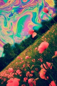 trippy sky by dixieee normus flowers trippy art psychedelic art- woooooooow! Inspiration Art, Art Inspo, Psychedelic Art, Psychedelic Tattoos, Dope Kunst, Acid Trip, Psy Art, Trippy Wallpaper, Hippie Art