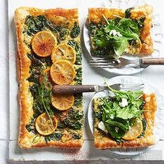 Sauteed lemon slices give this tart a beautiful presentation. A quick cook in the skillet mellow their bitter flavor and slightly caramelizes them to concentrate their lemony deliciousness.