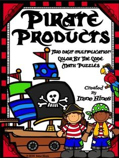 Multiplication: Pirate Products ~ 2 Digit by 1 Digit Color By The Code Math from jcrenes from jcrenes on TeachersNotebook.com (11 pages)  - This set includes 4 Pirate themed math puzzles with multiplication facts on each page. Each puzzle has 2 digit by 1 digit multiplication problems. $