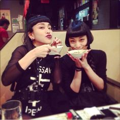 AyaBambiファン Aya Sato And Bambi, Harajuku Japan, Tartar Sauce, Aesthetic People, Alternative Girls, Bob Hairstyles, Asian Woman, Madonna, Short Hair Styles