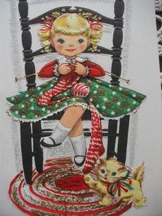 Knitting girl.