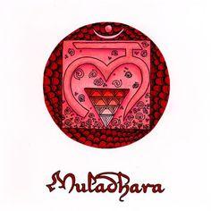 A Zentangled Muladhara Root Chakra.