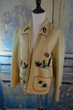 vintage 40s 50s womens mexican embroidered by humblepeacock