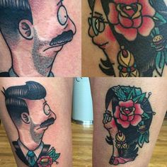 Bob's Burgers Traditional Tattoo