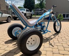 """The """"Candy Wagon"""" mini trike is done ready to rip the streets at the ELTA summer bash and mini bike parade! Drift Trike Frame, Kart Cross, Chopper Bike, Mini Chopper, Truck Accesories, Bike Parade, Future Concept Cars, Electric Trike, Diy Go Kart"""