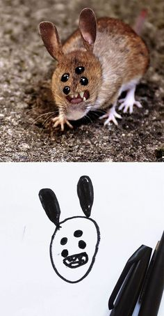 Dad Shows What Kid's Drawings Would Look Like In Real Life And They're TERRIFYING - FAIL Blog - Funny Fails