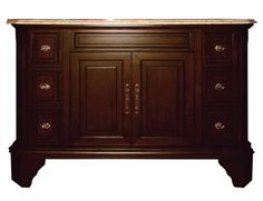 Yosemite Home Decor Single 48 in. W Brown Birch with MDF Vanity - TAMARACK48SV8. TAMARACK48SV8 - Single 48 in. W Brown Birch with MDF Vanity 48 in. W Brown finish Single Vanity Product Specifications Main Cabinet Dimensions 48 W x 22 D x 34 H (inches) Basin is 18 W x 18 D x 6.5 H (inches) White Ceramic .. . See More Vanities at http://www.ourgreatshop.com/Vanities-C705.aspx