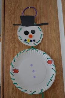 The Active Toddler: Snowman Craft & Lacing Activity