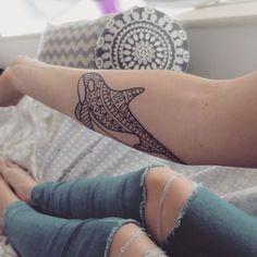 Lower arm killer whale tat