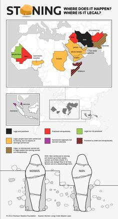 Stoning women is still legal here INFOGRAPHIC #feminism