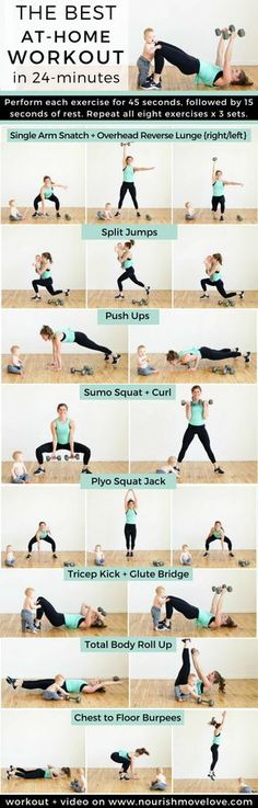 The Best At Home Strenght + HIIT Workout for Women