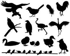 Bird Silhouette, Pretty, Animals, Shadows, Home Decor, Kindergarten, Printable, Darkness, Animaux