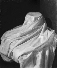 Sheet Study by Anthony Dupree, charcoal, Hein Academy of Art, SLC, UT