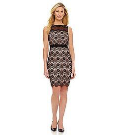 Maggy London Scalloped Floral Lace Sheath Dress #Dillards