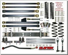 "Clayton Offroad 99-04 WJ 6\"" Long Arm Suspension Lift Kit"